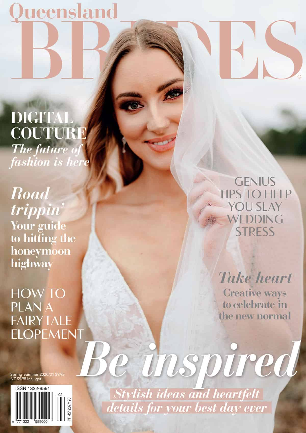 Queensland Brides magaizne spring summer 2020 front cover