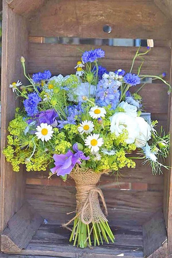 Spring Wedding Flowers, cornflower